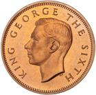 Halfpenny 1949: Photo Proof Coin - 1/2 Penny, New Zealand, 1949