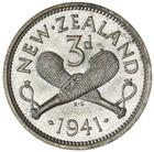 New Zealand / Threepence 1941 - reverse photo
