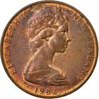New Zealand / Two Cents 1982 - obverse photo
