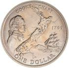 One Dollar 1969 Captain Cook: Photo New Zealand Dollar 1969