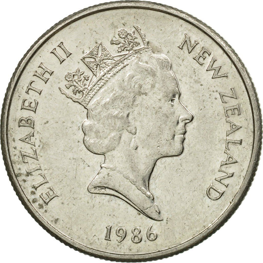 Five Cents 1986: Photo Coin, New Zealand, Elizabeth II, 5 Cents, 1986