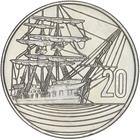 New Zealand / Twenty Cents 1990 150th Anniversary - reverse photo