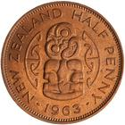 Halfpenny 1963: Photo Coin - 1/2 Penny, New Zealand, 1963