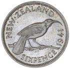 New Zealand / Sixpence 1941 - reverse photo