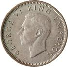 Sixpence 1945: Photo Coin - 6 Pence, New Zealand, 1945
