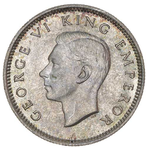 Sixpence 1941: Photo GEORGE VI, sixpence, 1941