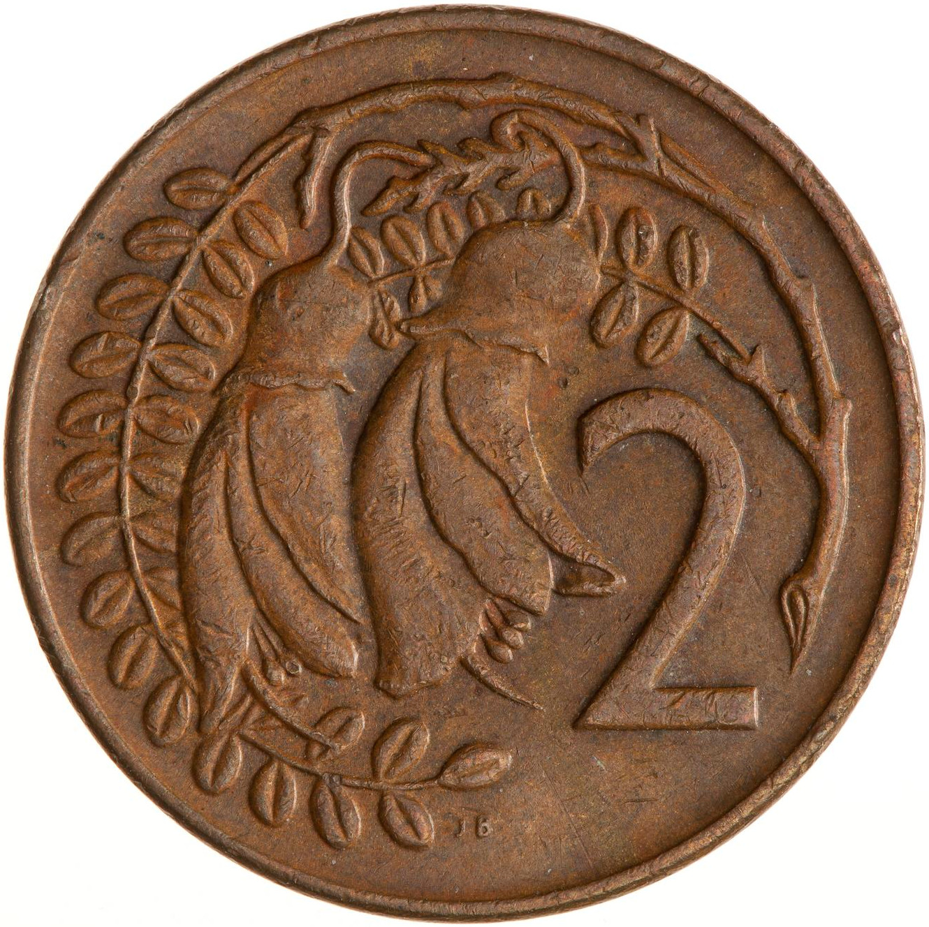Two Cents 1972: Photo Coin - 2 Cents, New Zealand, 1972