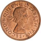 Halfpenny 1959: Photo Coin - 1/2 Penny, New Zealand, 1959