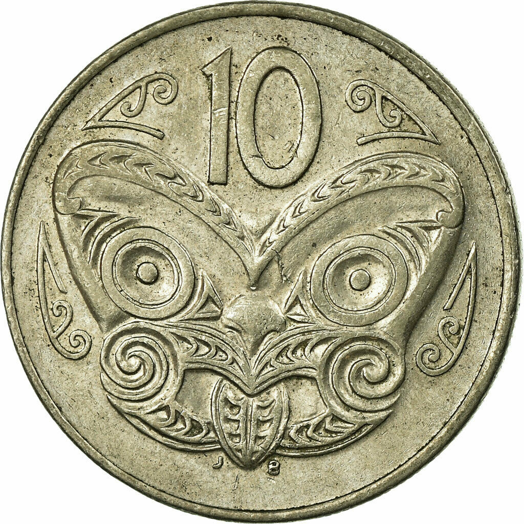 Ten Cents 1989: Photo Coin, New Zealand, 10 Cents 1989