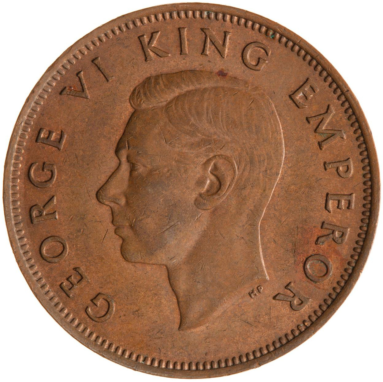 Halfpenny 1944: Photo Coin - 1/2 Penny, New Zealand, 1944