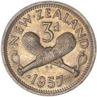 Threepence 1957: Photo 3d 1957 86 Dot