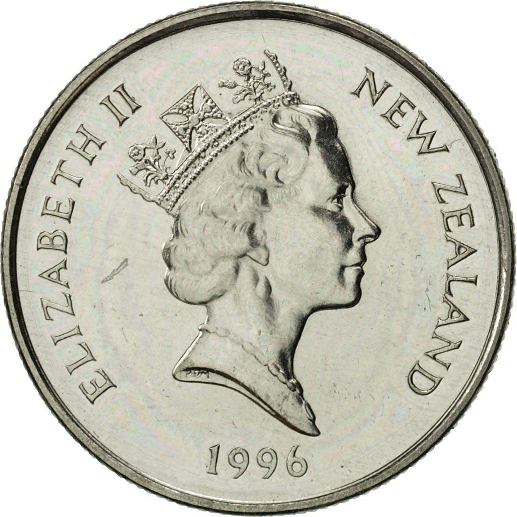 Five Cents 1996: Photo New Zealand, Elizabeth II, 5 Cents, 1996