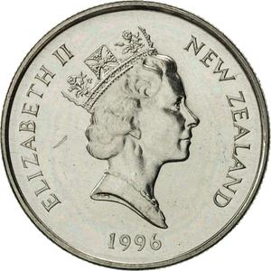New Zealand / Five Cents 1996 - obverse photo