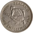 Shilling 1957: Photo Coin - 1 Shilling, New Zealand, 1957