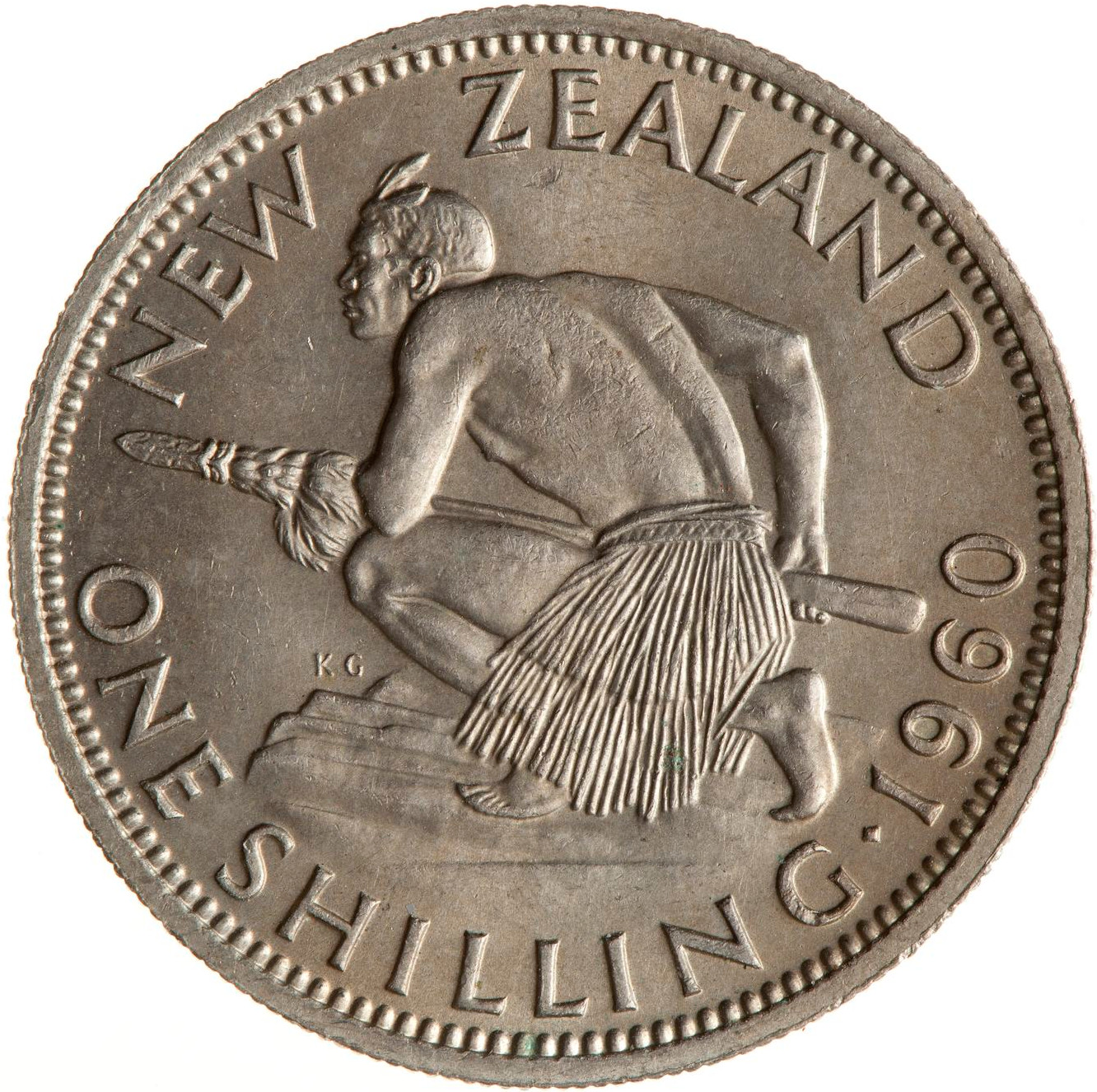 Shilling 1960: Photo Coin - 1 Shilling, New Zealand, 1960
