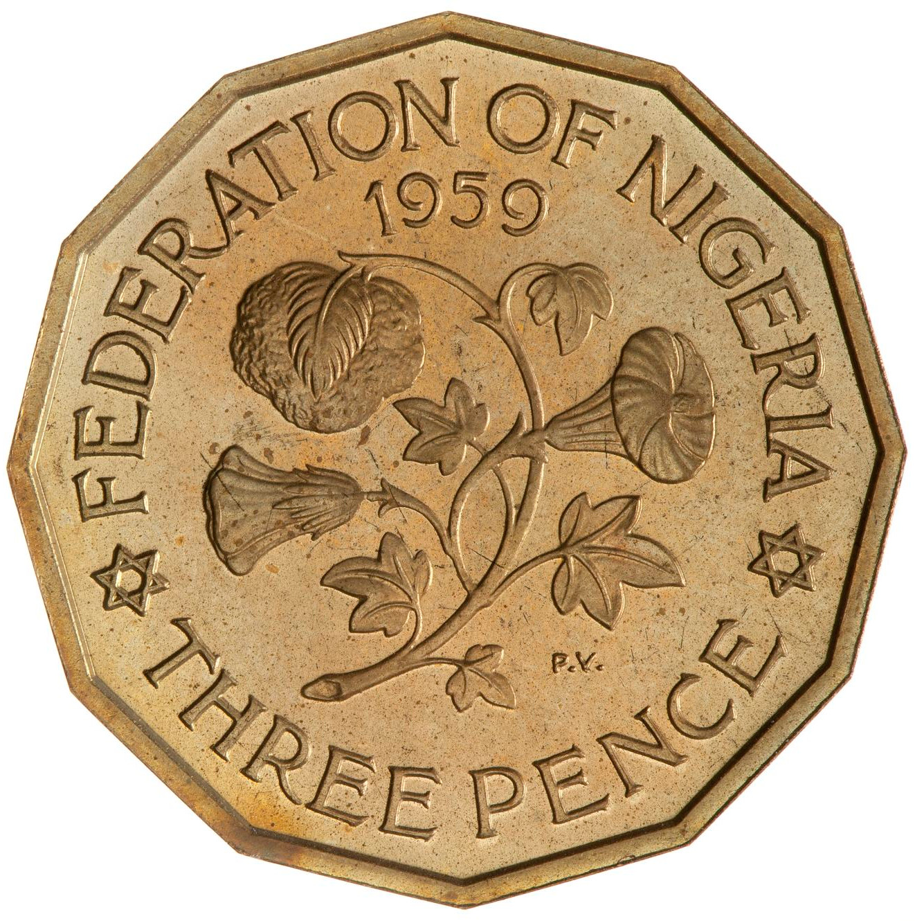 Threepence: Photo Proof Coin - 3 Pence, Nigeria, 1959