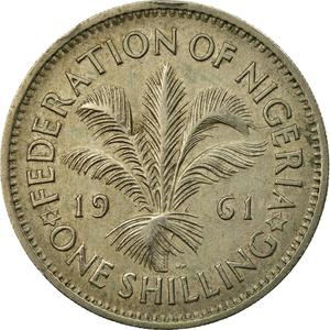 Nigeria / Shilling 1961 - reverse photo