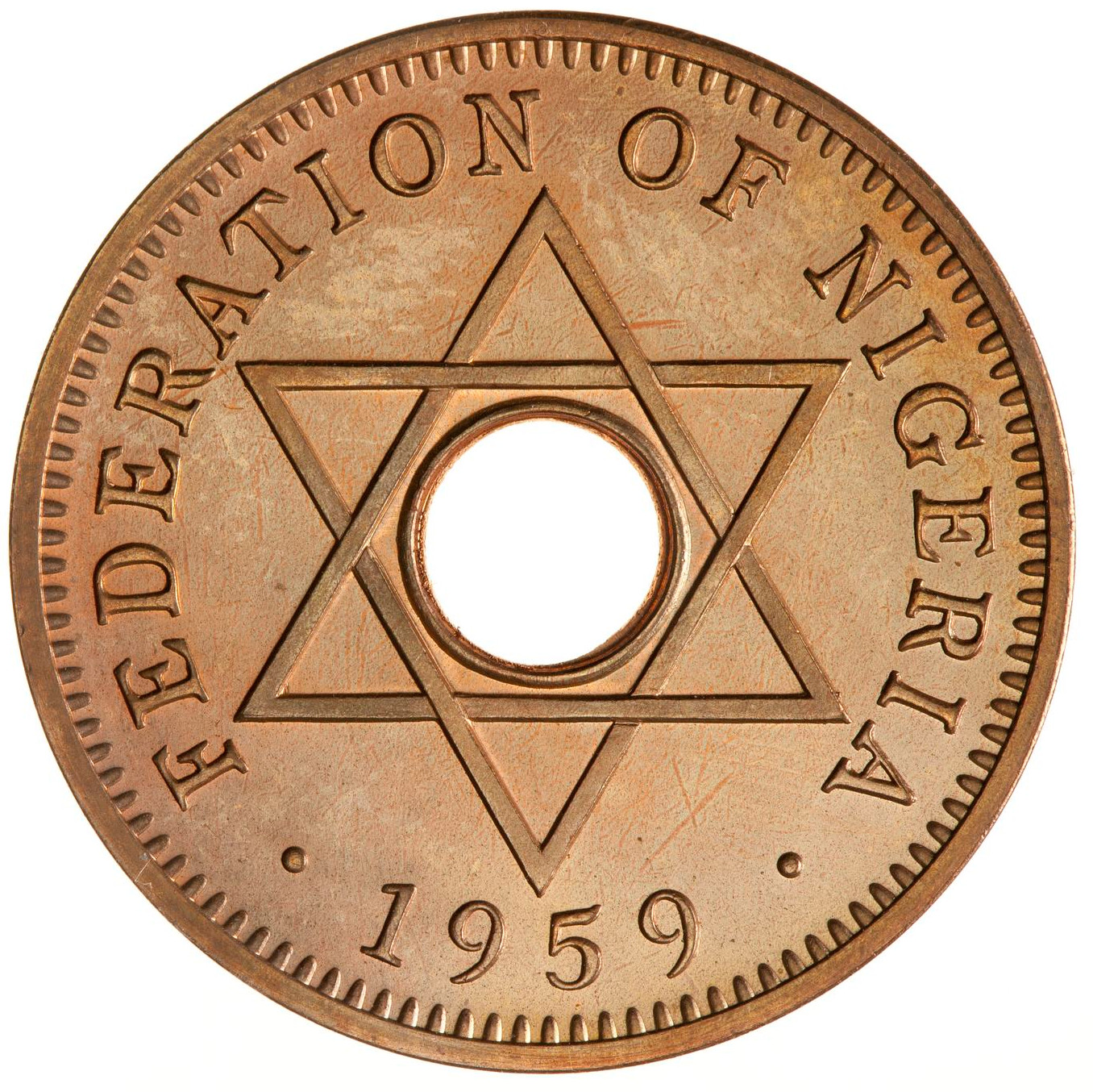 Halfpenny: Photo Proof Coin - 1/2 Penny, Nigeria, 1959