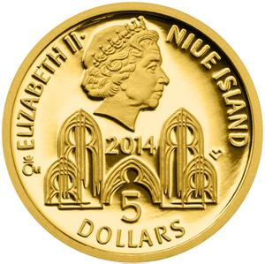 Niue / Gold Tenth-Ounce 2014 Charles I of Münsterberg - obverse photo