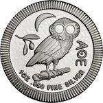 Niue / Silver Ounce 2021 Athenian Owl - reverse photo