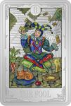 Niue / Silver Ounce 2021 Tarot Cards - The Fool - reverse photo