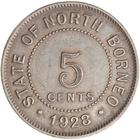 North Borneo / Five Cents 1928 - reverse photo