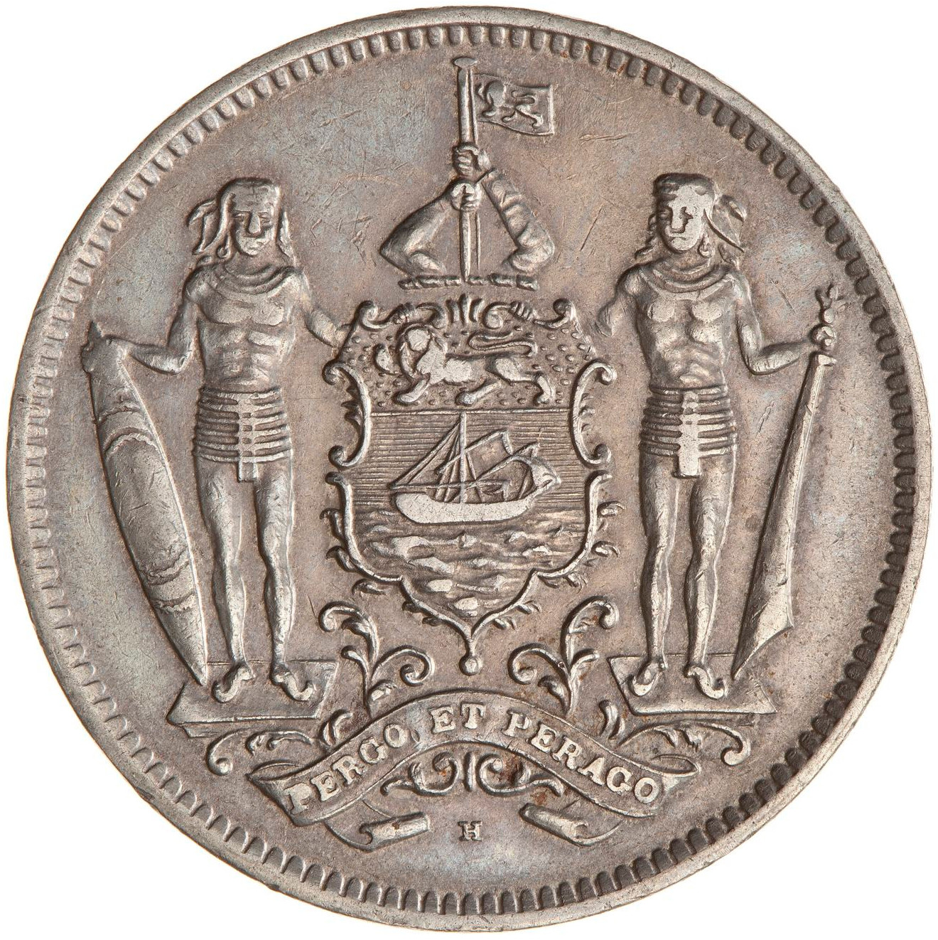 Five Cents 1928: Photo Coin - 5 Cents, North Borneo, 1928