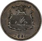 Half Cent 1891: Photo British North Borneo 1891 1/2 Cent