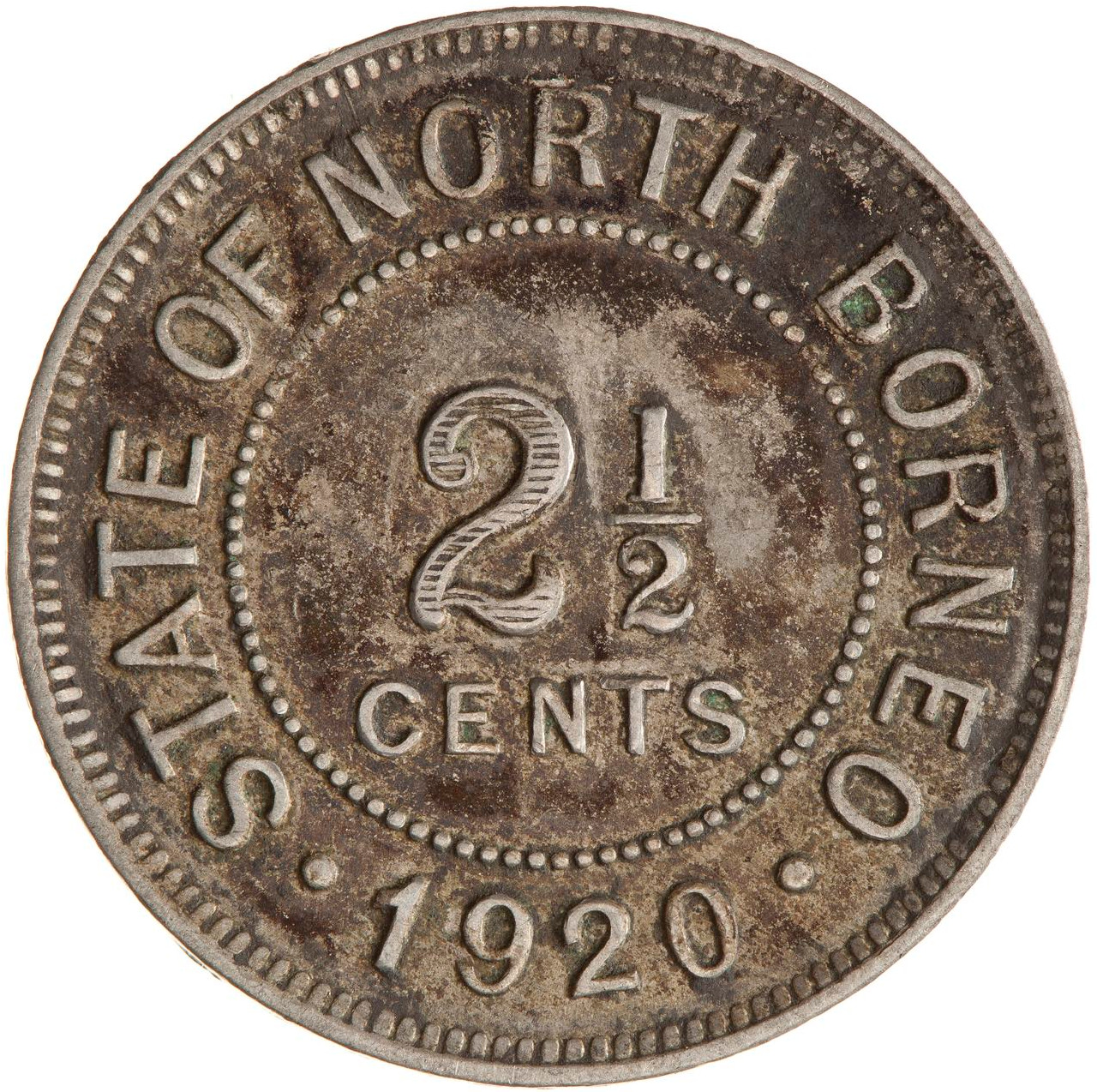 Two and a Half Cents 1920: Photo Coin - 2 1/2 Cents, North Borneo, 1920