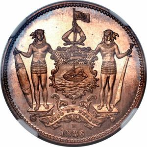 North Borneo / One Cent 1886 - obverse photo