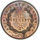 North Borneo / One Cent 1884 - reverse photo