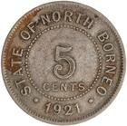 North Borneo / Five Cents 1921 - reverse photo