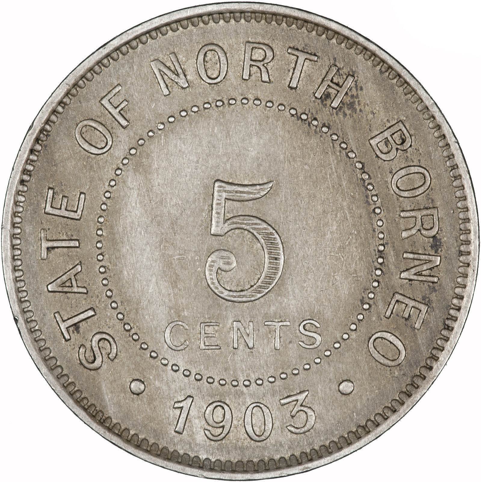 Five Cents 1903: Photo British North Borneo 1903 5 Cents