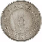 North Borneo / Five Cents 1903 - reverse photo
