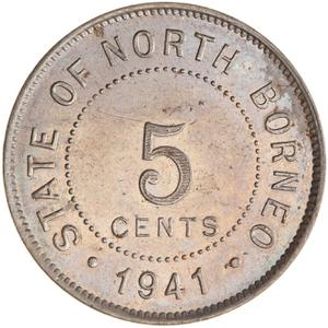 North Borneo / Five Cents 1941 - reverse photo