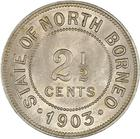 Two and a Half Cents 1903: Photo British North Borneo, British Protectorate: 2-1/2 Cent 1903 H
