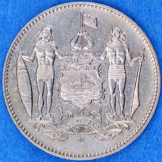 One Cent 1935: Photo British North Borneo 1935-H cent