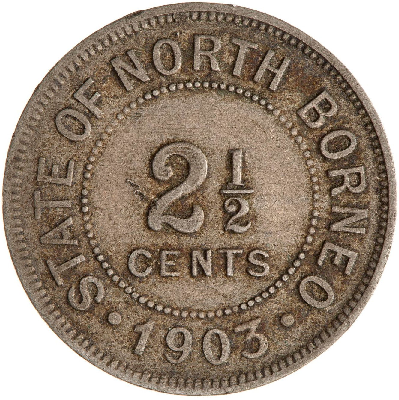 Two and a Half Cents 1903: Photo Coin - 2 1/2 Cents, North Borneo, 1903