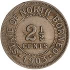 North Borneo / Two and a Half Cents 1903 - reverse photo