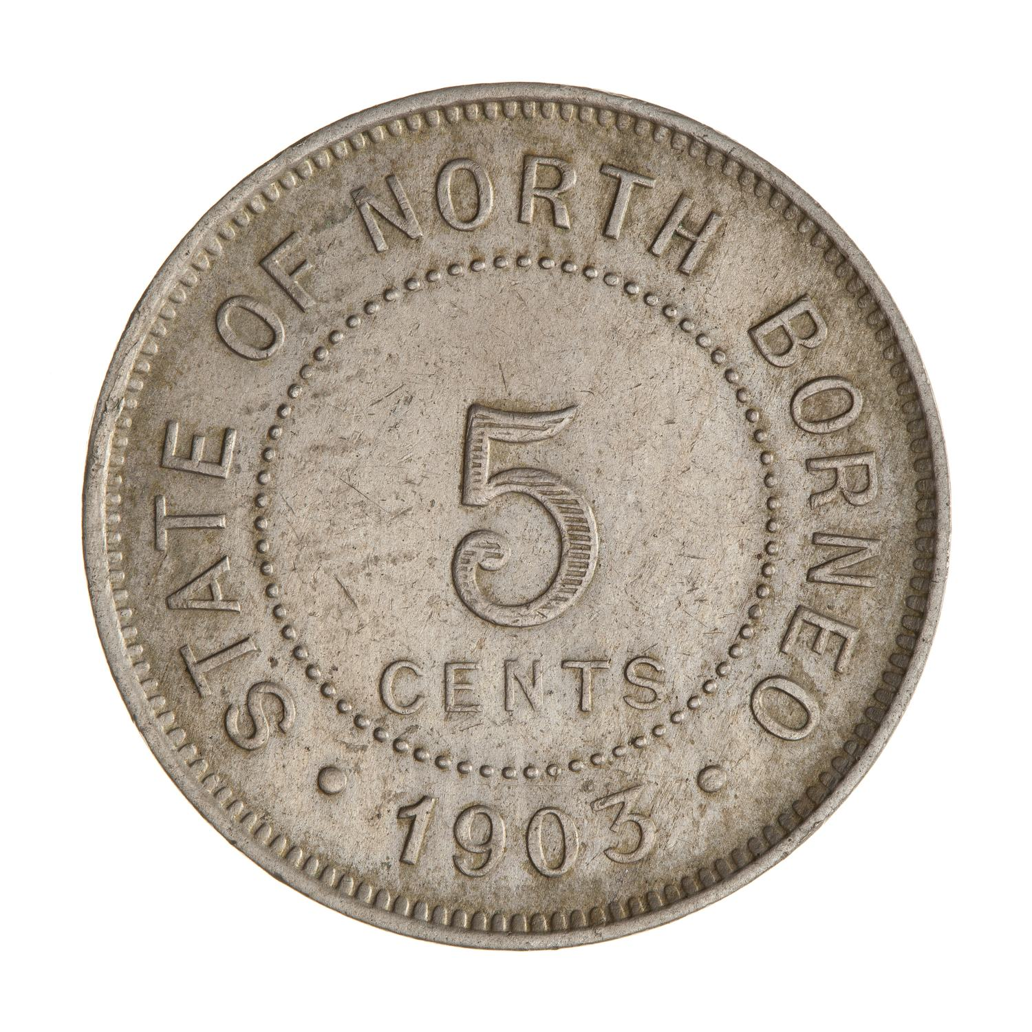 Five Cents 1903: Photo Coin - 5 Cents, North Borneo, 1903
