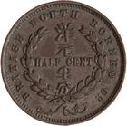 Half Cent 1891: Photo Coin - 1/2 Cent, British North Borneo Company, 1891