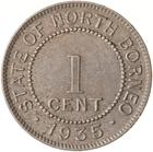 North Borneo / One Cent 1935 - reverse photo
