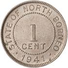 North Borneo / One Cent 1941 - reverse photo