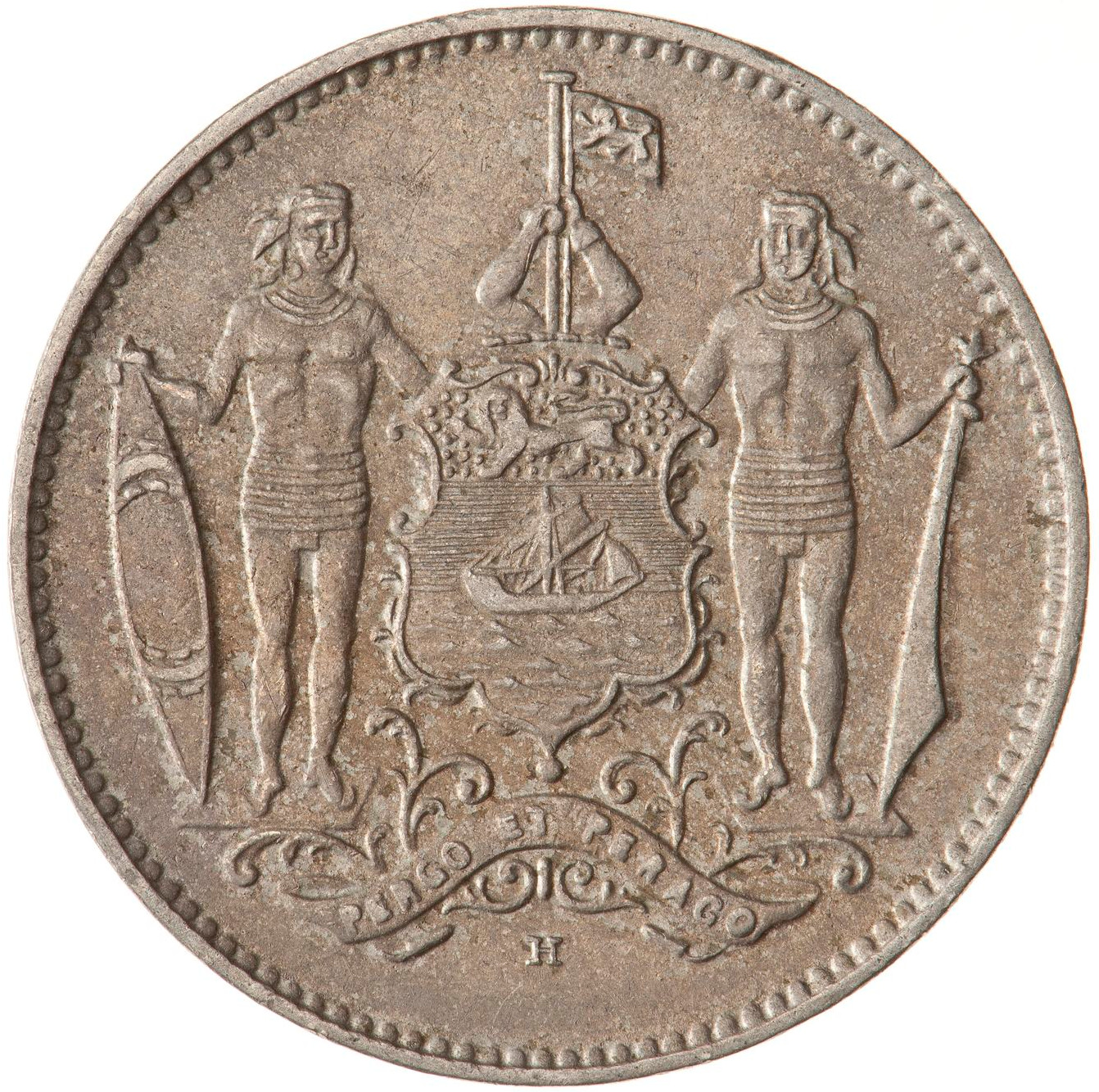 One Cent 1935: Photo Coin - 1 Cent, North Borneo, 1935