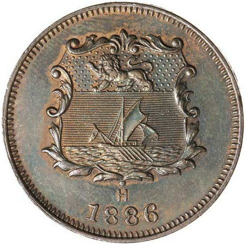 Half Cent 1886: Photo BRITISH NORTH BORNEO, half cent 1886H, (KM.1)