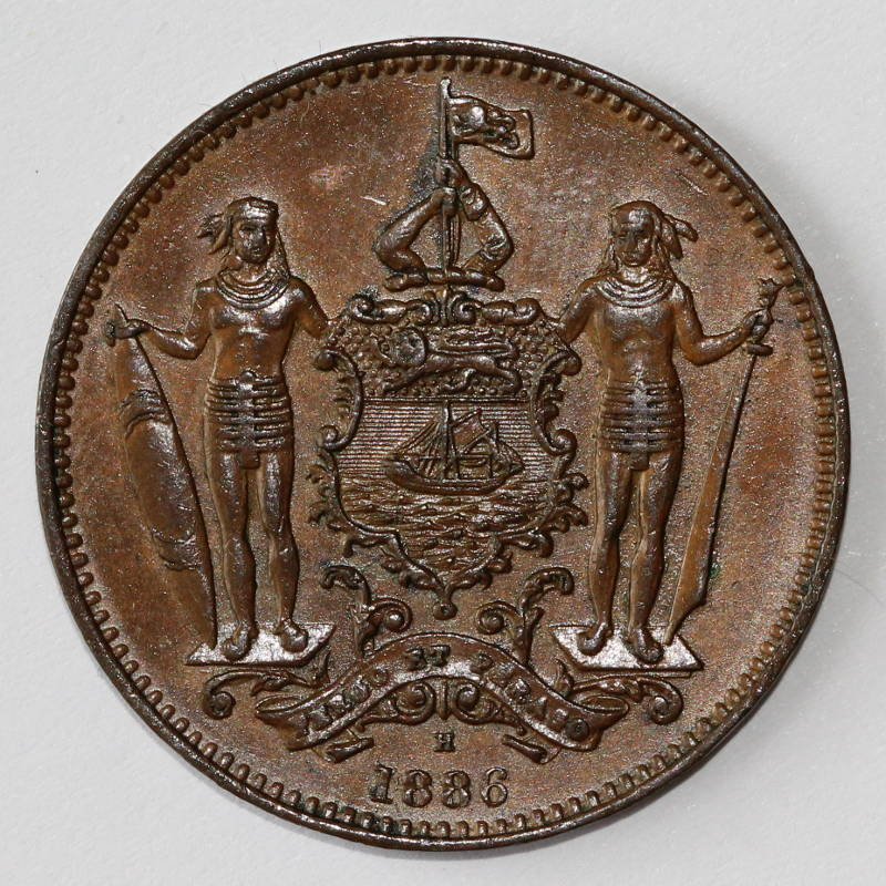 One Cent 1886: Photo British North Borneo, British Protectorate: Cent 1886