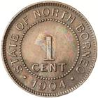 One Cent 1904: Photo Coin - 1 Cent, North Borneo, 1904