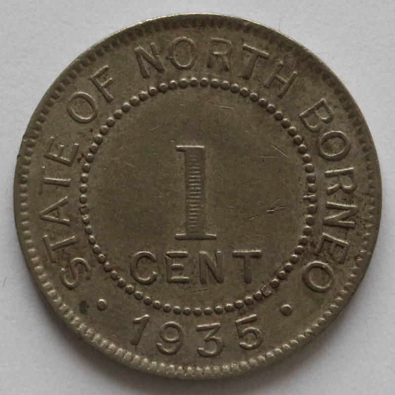 One Cent 1935: Photo British North Borneo, British Protectorate: Cent 1935 H