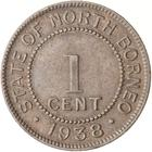 North Borneo / One Cent 1938 - reverse photo