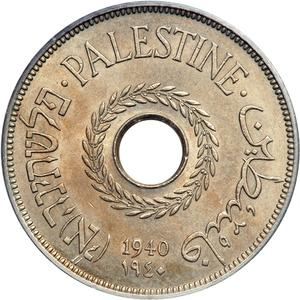 Palestine (British Mandate) / Twenty Mils 1940 - obverse photo